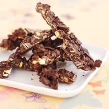 Bild på Energibar med choklad, nötter och frukt