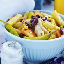 Bild på Pastasallad med grillad kyckling