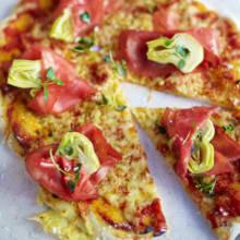 Bild på Pizza med bresaola och kronärtskocka