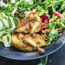 Grillad <strong>kyckling</strong> med parmesankräm