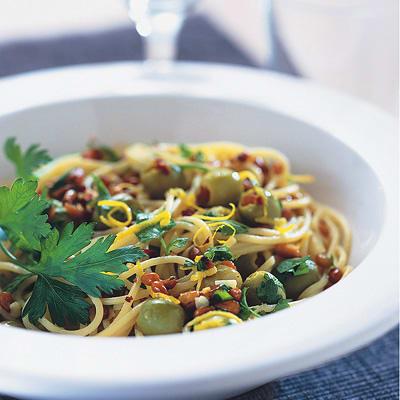 Bild på Pasta med citron och oliver