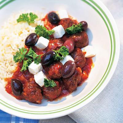 Bild på Köttbullar i tomat med grekisk ost