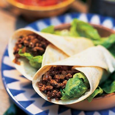 Bild på Tortillas med färs och bönor