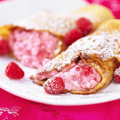 Bild på Hallonfyllda pannkakor