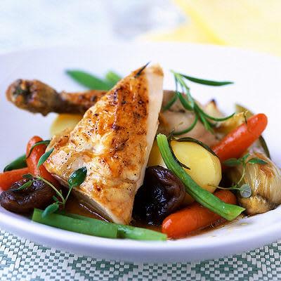 Bild på Kyckling med grönsaker och aprikoser