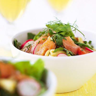 Bild på Lax- och pastasallad med dijonsenap