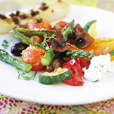 Bild på Rostade grönsaker med olivbröd