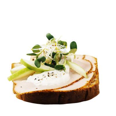 Bild på Kalkonsmörgås med äpple och skott