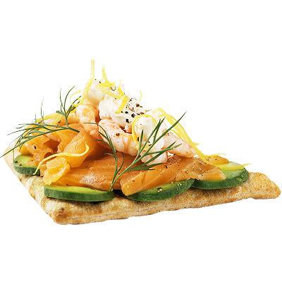 Bild på Laxsmörgås med avokado och räkor