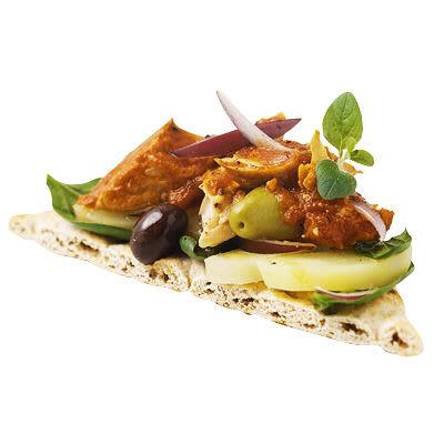 Bild på Makrillsmörgås med potatis och spenat