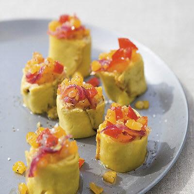 Bild på Majspannkaka med polenta och kantareller