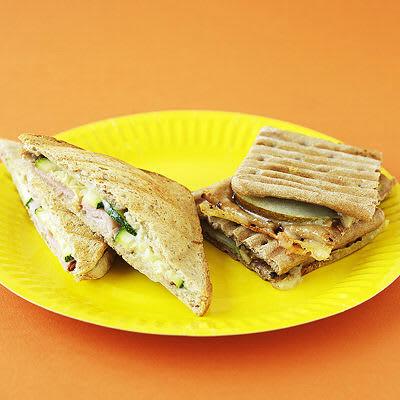 Bild på Varm macka med zucchini och skinka