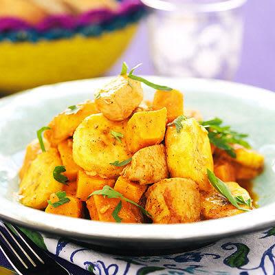 Bild på Kyckling- och sötpotatisgryta med kokbanan