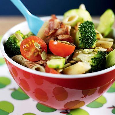 Bild på Pastasallad med broccoli och bacon