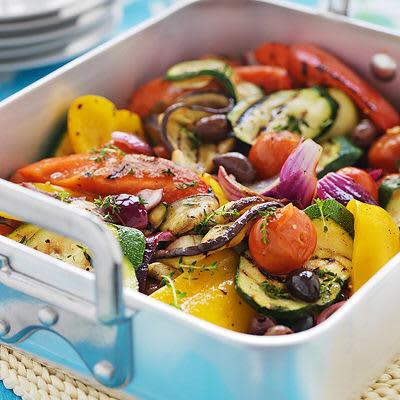 Bild på Olivoljemarinerade grönsaker