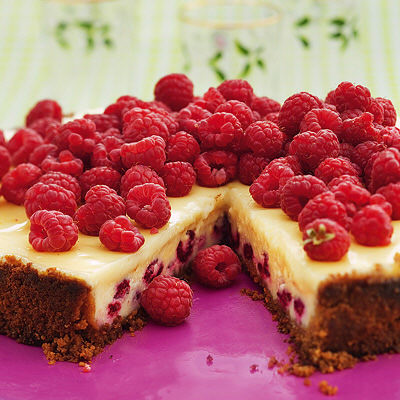 Bild på Halloncheesecake med vit choklad