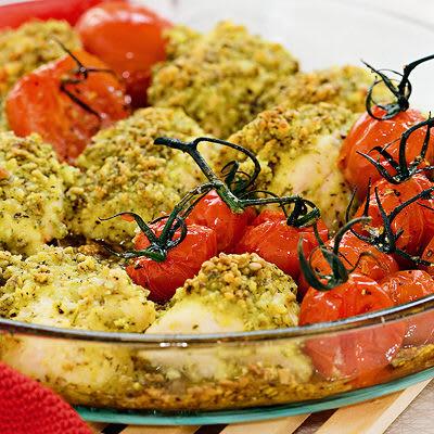 Bild på Parmesan- och fröpanerad kyckling