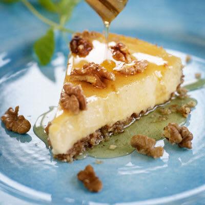 Bild på Nötig cheesecake med vaniljhonung
