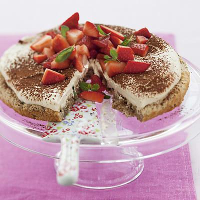 Bild på Nötmarängtårta