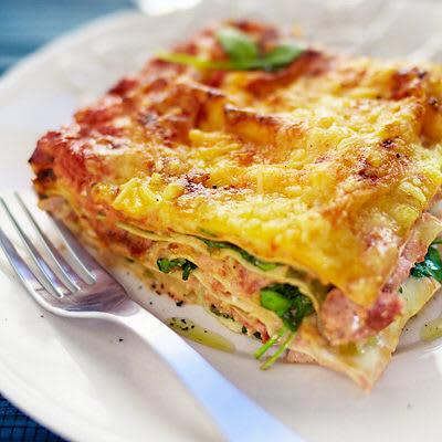 Bild på Lasagne med rökt lax och spenat