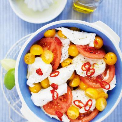 Bild på Mozzarellasallad med chili- och limeolja