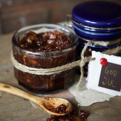 Bild på Portvins- och fikonmarmelad med valnötter