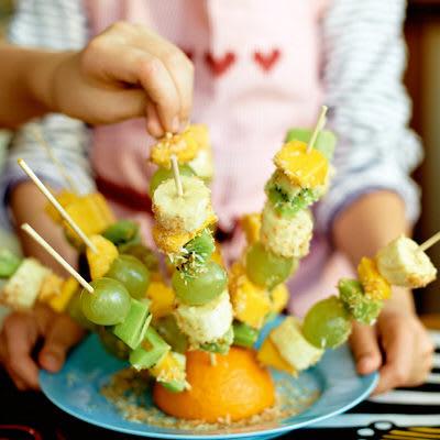 Bild på Spettad fruktsallad
