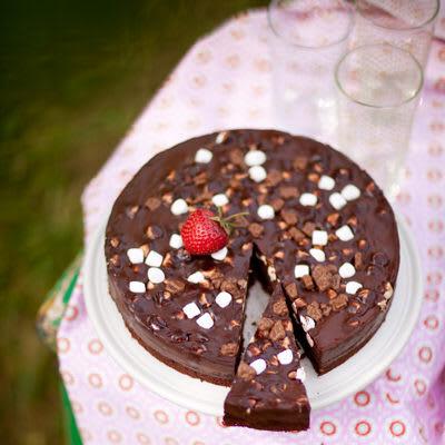 Tryffeltårta med marshmallows och Daim