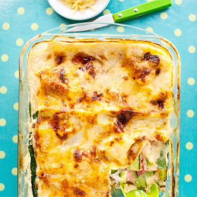Bild på Lasagne med kassler och zucchini