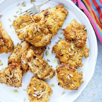 Bild på Panerad kyckling och potatiswok