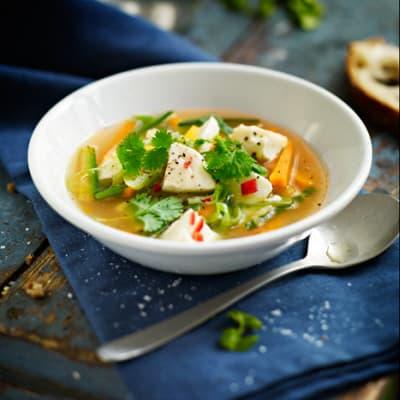 Bild på Grönsakssoppa med asiatisk känsla
