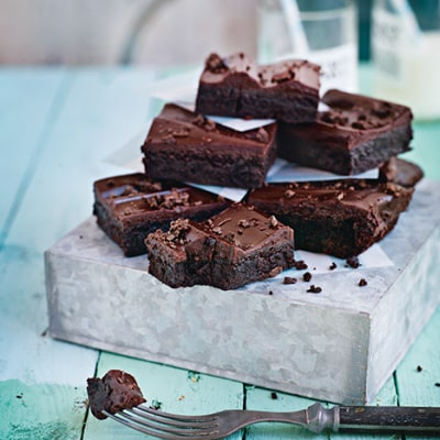 kladdig brownie recept
