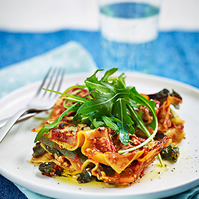 vegetarisk lasagne keso zucchini