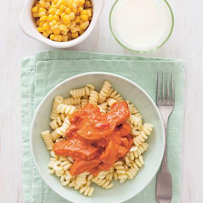 Bild på Barnens korv stroganoff med pasta