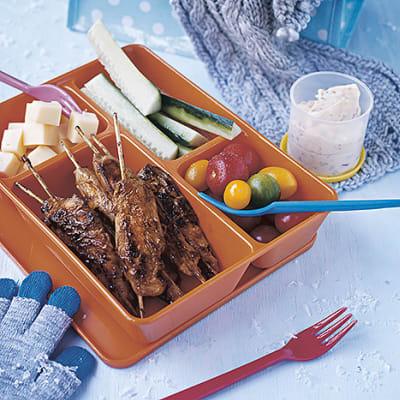 Bild på Kycklingspett med chilibea