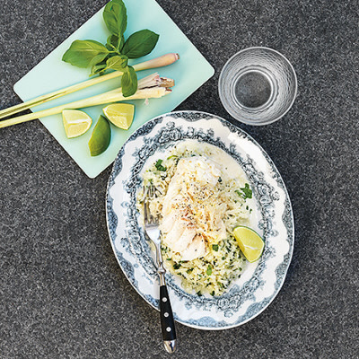 Bild på Blomkåls-couscous, torsk och citrongräs