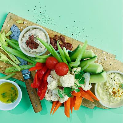 Bild på Grönsaker med två dippar