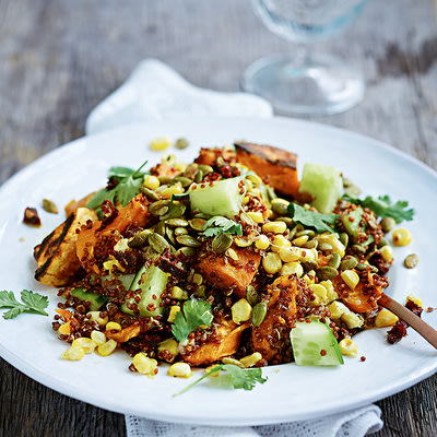 Bild på Quinoa med rostad sötpotatis och chipotledressing