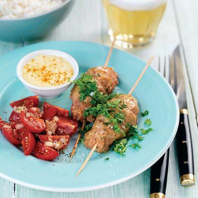 Bild på Curryfärsspett med tomatsalsa