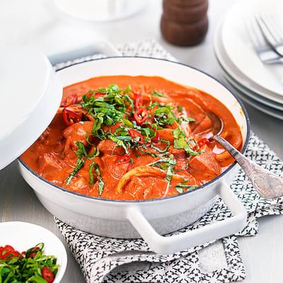 Bild på Korv stroganoff med chili & basilika