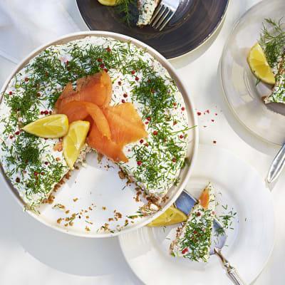 Bild på Laxtårta med dill och gräslök