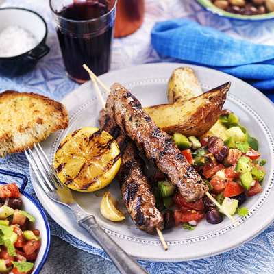 Bild på Lammfärsspett med grekisk tomatsalsa