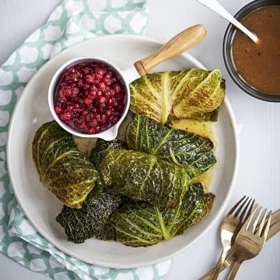 Bild på Kåldolmar med savoykål