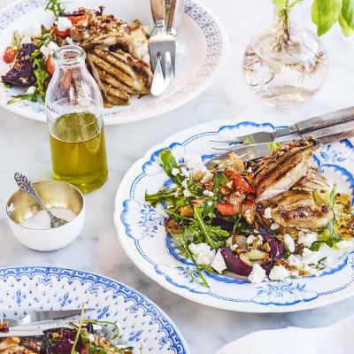 Bild på Stekt kyckling med ugnsgrönsaker