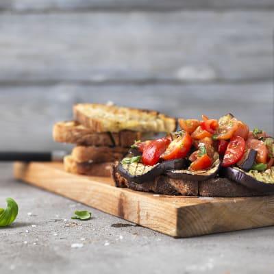 Bild på Grillad bruschetta med aubergine
