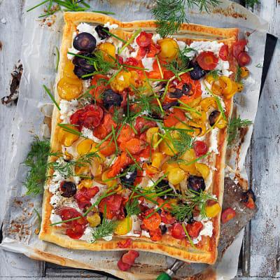 Bild på Smördegspizza med morot