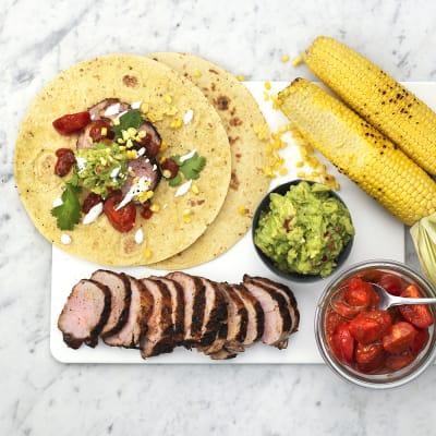 Bild på Grillad fläskfilé taco de lux