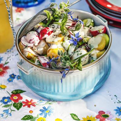 Bild på Krämig potatissallad med örter