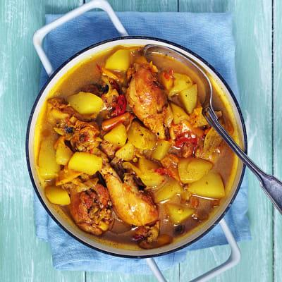 Bild på Kyckling drumsticks med gurkmeja och potatis