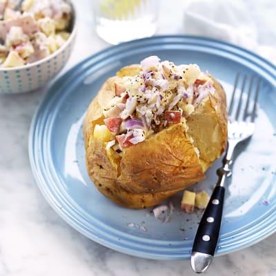 Bild på Bakad potatis med skinkröra